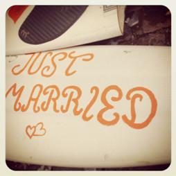 Hochzeits-Surfbrett