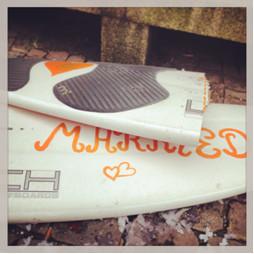 Just Married Surfbrett