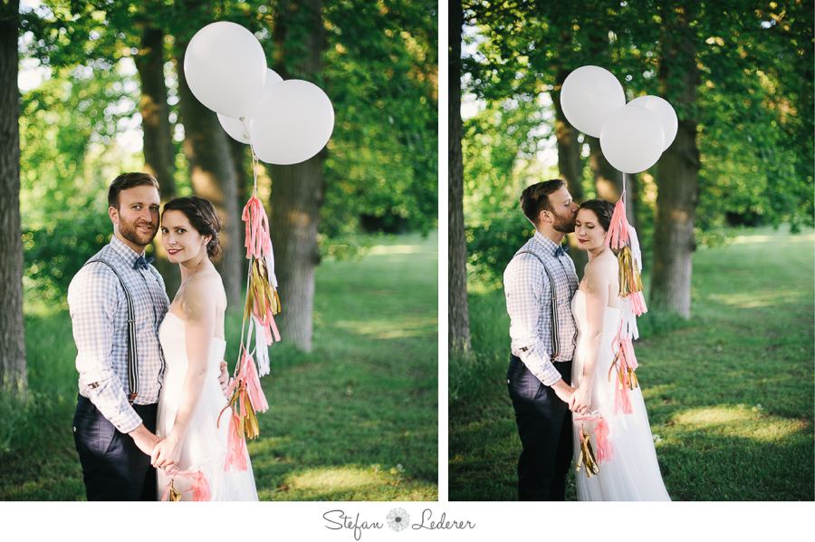 After Wedding Fotoshooting mit Luftballons